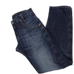 Levi's Men's 514 Whiskered Distressed Luxe Denim